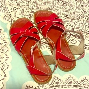 Adorable and comfortable red Salt Water sandals